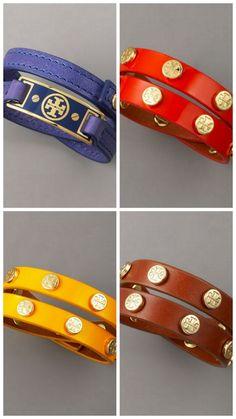 Tory Burch leather bracelets
