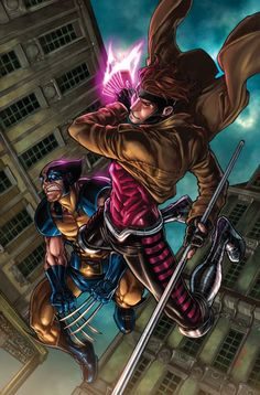 Wolverine & Gambit (I have a Wolverine board and a Gambit board.  I chose Wolverine because he's my favorite.)