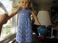 """Empire Waist Lace Dress for 18"""" doll...  so pretty...    ((free))"""