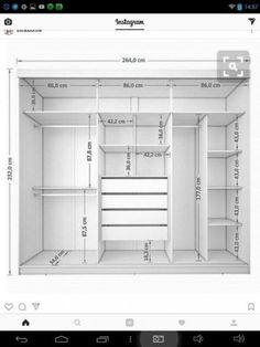 Roupeiro 3 Portas de Correr Juliana III 4 Gavetas Branco - Móveis Bechara Wardrobe, com. Wardrobe Design Bedroom, Master Bedroom Closet, Bedroom Wardrobe, Wardrobe Closet, Wardrobe Storage, Diy Bedroom, Closet Wall, Wall Of Closets, Wardrobes For Bedrooms