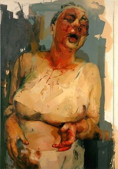 JENNY SAVILLE  Pause, 2002-2003  Oil on canvas  120 x 84 inches (304.8 x 213.4 cm)
