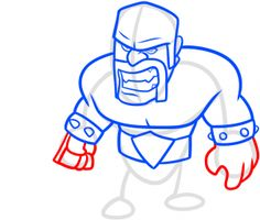 how to draw clash of clans barbarian step 9