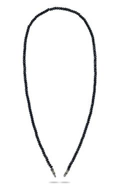 Signature Collection Beaded Necklace – Black Spinel & Diamond – Barbara Bixby