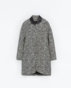 JACQUARD COAT - Coats - Woman | ZARA Norway