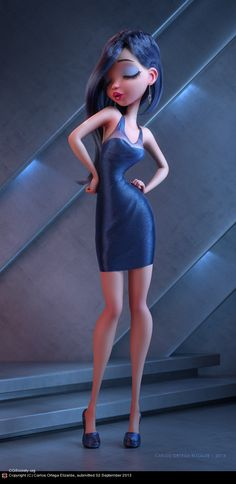 Lights On by Carlos Ortega Elizalde | Pinup | 3D | CGSociety
