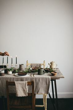 Creating the perfect festive table.