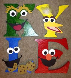 Sesame Street Style letters