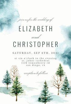 Noel Christmas Town - Wedding Invitation #invitations #printable #diy #template #wedding