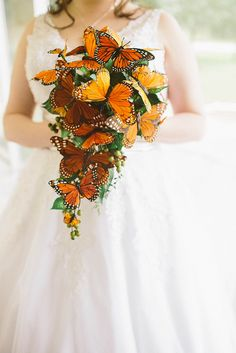 How cute is this butterfly bouquet?? | via Offbeat Bride, 04 by RainMirage, via Flickr