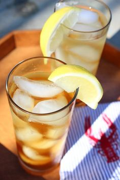 Spiced rum doesn't really scream summer to me, but iced tea sure does! Mix them together and you get a refreshing lemony tea with an adult spin. This cocktail has a lovely spicy kick, perfect for sipping outside on a hot summer eve. Not to mention, it can be whipped up in less than 10 minutes.