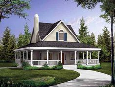 House Plan  love the wrap around porch