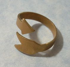Arrow Ring Adjustable Brass Ring Blank by charmsgalore on Etsy