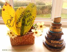 corona de la gratitud In Natura, Place Cards, Place Card Holders, Ideas, Gratitude, Crowns, Nature, Iron, Thoughts