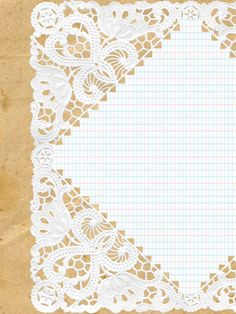 Doily, Grid Paper and Kraft Journaling Card via The Serendipitious Scrapper