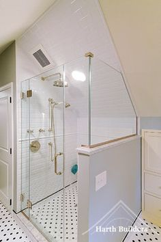 1000 images about bathroom ideas on pinterest attic for Sloped ceiling bathroom ideas