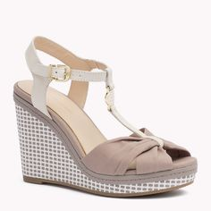 Tommy Hilfiger Mixed Wedge Sandal - fungi (Brown) - Tommy Hilfiger Shoes - main image