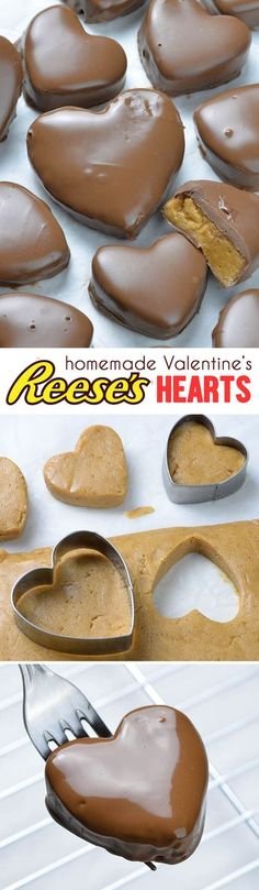 This Reese's Peanut Butter Valentine's Heart recipe is super simple and easy to make. Perfect choice for the Valentine's day. day dinner tasty Chocolate Peanut Butter Valentine's Heart Candy Recipes, Sweet Recipes, Baking Recipes, Holiday Recipes, Dessert Recipes, Holiday Drinks, Valentine Recipes, Holiday Appetizers, Dessert Bread