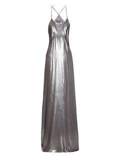 Metallic lamé gown | Galvan | MATCHESFASHION.COM