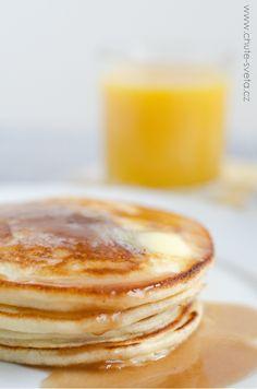americké lívance z podmáslí Pancakes, Breakfast, Food, Morning Coffee, Essen, Pancake, Meals, Yemek, Eten