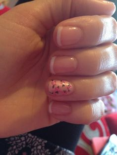 My wedding nails. French manicure and cath kidston style ring finger shellac nails