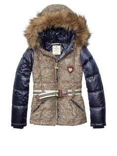 Wool Mix Jacket With Nylon Sleeves > Kids Clothing > Girls > Jackets at Scotch R'Belle