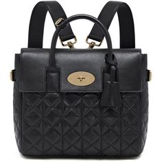 Cara Delevingne Bag Black Quilted Nappa (2,600 CAD) ❤ liked on Polyvore featuring bags, backpacks, backpack, purses, bolsas, bolsos, zip bags, black bag, zipper bag and black quilted bag