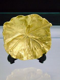 Virginia Metalcrafters 1951 Brass Trinket Dish Ginkgo Leaf Tree of Heaven 3-58 | Collectibles, Metalware, Brass | eBay!