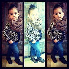 Little girl fashion- leopard print!