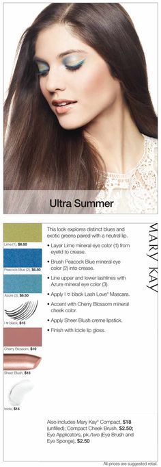 Explore deep blues and exotic greens with this Ultra Summer look. http://www.marykay.com/lisabarber68 call or text me 386-303-2400