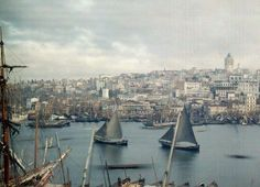 These Beautiful Antique Photos Were Made With Potato Starch / An Empire Ends This 1923 photo captures Constantinople at the end of the Ottoman Empire and the beginning of the Turkish Republic. Seven years later, the city was renamed Istanbul.  PHOTOGRAPH BY JULES GERVAISE COURTELLEMONT, NATIONAL GEOGRAPHIC