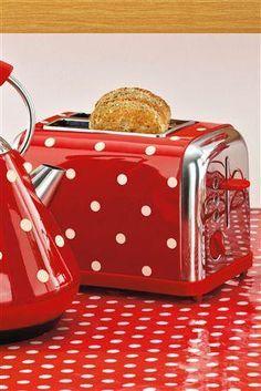 ◆ Red polka dot kitchen things ◆