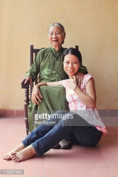 Stock Photo : Grandmother and granddaughter
