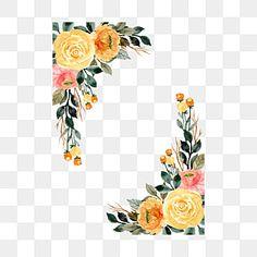 زهرة صفراء مائية الإطار العروس زهرة حفل زواج Png والمتجهات للتحميل مجانا Pink Flowers Background Watercolor Flowers Wreath Watercolor