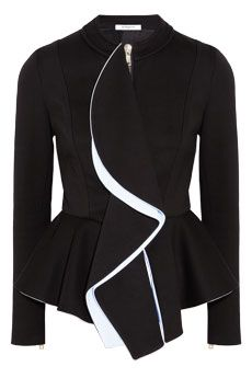 Givenchy Black ruffled-front jersey jacket | NET-A-PORTER