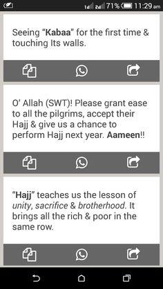 7 Hajj Mubarak SMS Messages 2019 Android App , Hajj Wishes