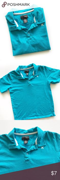 🎉Host Pick🎉Hurley Polo Shirt Super handsome teal polo shirt by Hurley. Shoulder tabs with buttons. Excellent Used Condition. Boys M Hurley Shirts & Tops Polos