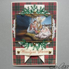 A good idea of how to use old Christmas cards!