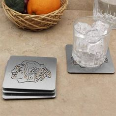 Chicago Blackhawks 4-Pack Boasters Stainless Steel Coasters