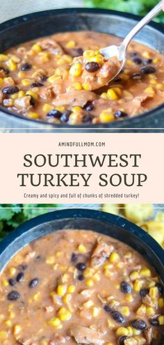 Recipes For Soups And Stews, Best Soup Recipes, Chowder Recipes, Healthy Soup Recipes, Vegan Recipes Easy, Turkey Recipes, Mexican Food Recipes, Chili Recipes, Crockpot Recipes