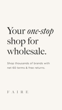 Stock your store from the comfort of home. Shop over 13,000 independent wholesale vendors and enjoy 60-day payment terms & free returns. Small Business Plan, Business Planning, Business Tips, Online Business, Small Business Organization, Business Inspiration, Craft Business, Buying Wholesale, Work From Home Jobs