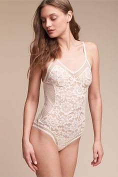 2ec3fc6fec BHLDN s Ryka Bodysuit in Cream Teddy Lingerie
