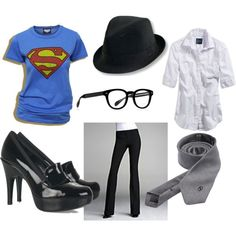 """clark kent superman halloween costume"". Cute! Might have to do this for halloween next year. :)"