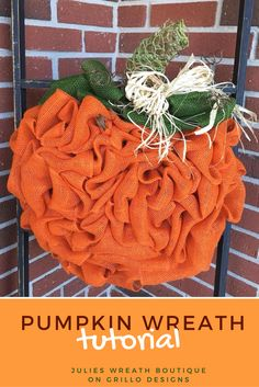 Ever wondered how to make a DIY pumpkin wreath? This tutorial by Julie Oxendine will show you step by step how to make the perfect pumpkin wreath for Fall