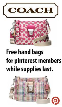 Hey friends, did ya know Coach and Pinterest were giving away free bags?