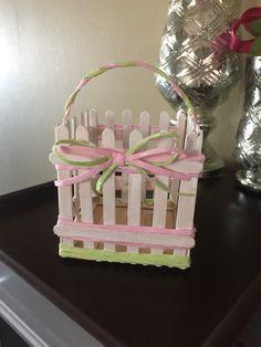 love how my DIY Popsicle stick easter basket came out!I love how my DIY Popsicle stick easter basket came out! Kids Crafts, Diy Home Crafts, Holiday Crafts, Crafts To Make, Craft Stick Projects, Diy Popsicle Stick Crafts, Popsicle Sticks, Pop Cycle Stick Crafts, Craft Ideas