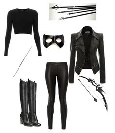 """black canary"" by sophia242t on Polyvore featuring Topshop, The Row, Via Spiga…"