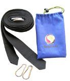 Hammock Tree Straps Kit - 10 ft Durable Polyester Webbing Straps With Ring Hooks - Includes 2 Metal Carabiners in Pull-Tie Stuff Sack - Excellent Tree Strapping for Swings and Slings - Prevents Injury to Trees - Weather Resistant for Long Life by StrapSna
