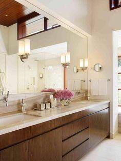 Original  Bathroom Anities Rockfeller Architects Modern Cabinet Traertine Counterss
