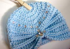 crochet turban baby beanie / photo props / girls hat / etsy baby / crochet bebe / handmade gift ideas / etsy baby shower