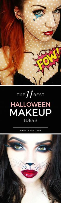 Love the Roy Lichtenstein Artwork Face! 'The 11 Best Halloween Makeup Ideas'